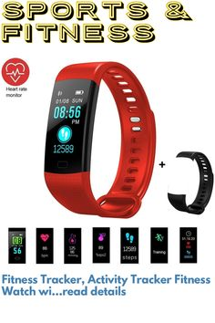 (This is an affiliate pin) Fitness Tracker, Activity Tracker Fitness Watch with Heart Rate Monitor Color Screen,Waterproof Smart Bracelet with Step Counter,Calorie Counter,Pedometer for Kids Women Men Android iOS Best Fitness Tracker, Calorie Counter, Smart Bracelet, Fitness Watch, Heart Rate Monitor, Ios, Android, Activities, Color