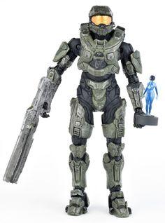 "Halo 4 Series 2 MASTER CHIEF w/ Railgun & CORTANA 5.5"" Action Figure McFarlane #McFarlaneToys"