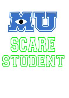 SVG disney monsters inc scare student monsters university