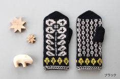 しずく堂 編みものワークショップ 「大きな花柄のミトン」