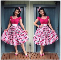 Collectif Clothing Top, Pinup Girl Clothing Belt and Skirt, BAIT Footwear Shoes