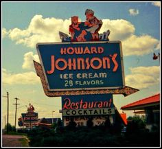 Another piece of roadside history - the Howard Johnson's restaurant & ice cream shop!    Vestal, NY - 1967. Vintage slide from the saturn500f blog.    https://fbcdn-sphotos-a.akamaihd.net/hphotos-ak-ash3/s480x480/538504_10151060981519289_1062604453_n.jpg