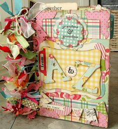 My October Afternoon 'Sidewalks' Mini-Album: candycoatedwhimsical.wordpress.com ~  paper crafting with spirit......