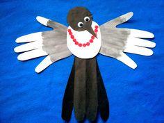 Сорока-белобока. Magpie Letter Formation, Bird Crafts, Phonics, Crafts For Kids, Birds, Lettering, Blog, Sad, Crafts For Children