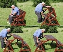 2-in-1 picnic table and bench