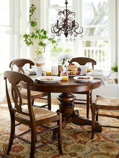 I walked into Pottery Barn one day and this dining room set called ...