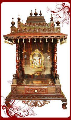 Wooden Puja Mandir Models Sale Australia Wooden Temple For Home, Home Temple,  Mandir Design