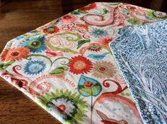 Placemats make a great first project for anyone new to using a sewing machine, and would make a quick and easy housewarming gift.