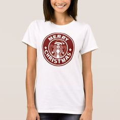 Merry Christmas Starbucks Parody T-Shirt - click/tap to personalize and buy