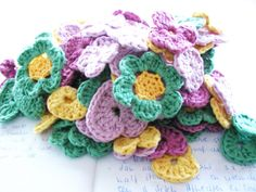 Crochet Flowers - Tutorial (Use Google Translator) ❥ 4U // hf