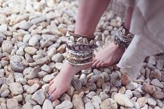 DIY: shell embellished ankle cuffs