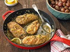 USE ONLY 2 TBS OF LEMON JUICE AND 1 Lemon Rind; substituted 3TBS GREEN ONIONS FOR THE SHALLOTS Chicken Breasts With Lemon Recipe - NYT Cooking