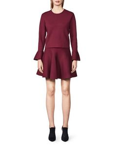 Women's circular skirt in viscose-blend. Above-knee length. High Neck Dress, Dresses For Work, Women's Skirts, Fashion, Moda, Fashion Styles, Fashion Illustrations, Fashion Models, High Neckline Dress