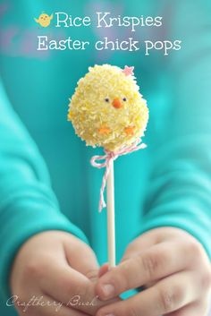 *Rice Krispies Easter chick pops -