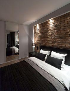 Небольшая квартира жителей мужчину - 34м2, современный, простой, функциональный - визуальный элемент - тенденции обустройства дома журнал