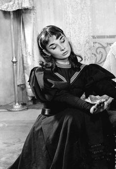 Audrey Hepburn in Gigi on Broadway, c. 1951