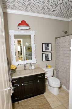 I have a little plan for my bathroom inspired by this pic and a trip I plan to make to the dollar store... but WHAT about this pic is the inspiration...  Can YOU guess?!