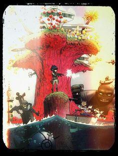 Gorillaz Gorillaz Art Style, Gorillaz Band, Gorillaz Noodle, Gorillaz Plastic Beach, 2d And Murdoc, Imagine Dragons, Love Is Free, Music Stuff, Pretty Cool