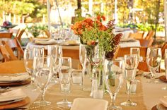 burlap table runners (these are our chairs too)