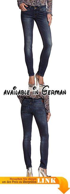 MUSTANG Damen Skinny Jeans Gina, Gr. W32/L34, Blau (dark scratched used 582). Junge, feminine 5-Pocket-Jeans mit eng verlaufendem Bein und niedriger Leibhöhe. #Apparel #PANTS