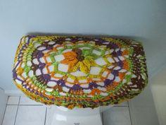 Crochet baño tanque tapa cubierta - fibra de la mezcla (TLL5D)