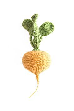 1 Pcs Crochet turnip crochet vegetables teether teeth от MiniMoms
