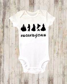 eb651ee81 Baby Onesie ®, Disney Princess Inspired Onesie ®, Squad Goals, Baby Girl,  Baby Girl Clothing