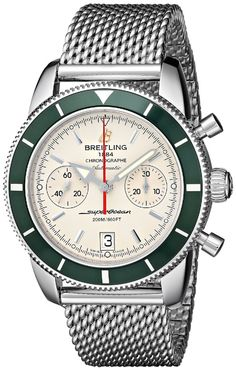 men watches Breitling Men's A2337036-G753 Analog Display Swiss Automatic Silver Watch Watches best price