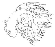 Fighter doodle art sharpie art drawing beta fish doodles for Japanische kampffische