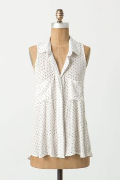 I'm such a sucker for polka dots right now, especially these itty bitty ones on a sleeveless blouse that I could see wearing to work, to dinner with friends or running errands.  Sleeveless Laurina Top - Anthropologie.com