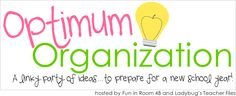 A linky totally devoted to organization?!? Count me in! I'm so excited to be linking up with Kristen and Elizabeth for their Optimum Organ...
