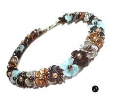 Tutorial for kumihimo flower choker by LaBrujaPL on Etsy