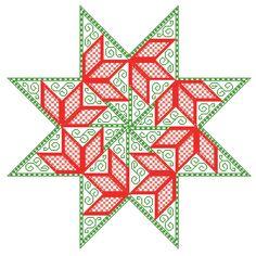 Boutique de la Brodeuse Bressane: Poinsettia Star - embroidery pattern