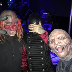 Clown..Sid & Corey 2016 #Slipknot #Clown #ShawnCrahan #6 #SidWilson #0 #CoreyTaylor #8