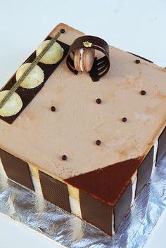 Gourmet Baking: Nathaniel's Birthday Part II: Roasted Banana and Salted Caramel Ice Cream Cake