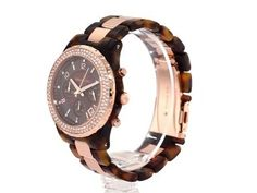 Michael Kors Women's MK5416 Brown Plastic Quartz Watch with Brown Dial
