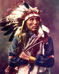 James Lone Elk, nephew of Old American Horse. Oglala Lakota. Early 1900s…