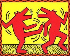 Keith Haring Drawings   Keith Haring Famous Oil Paintings Art Reproduction on Canvas