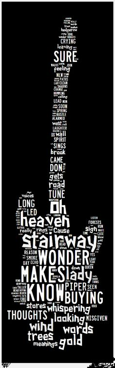 The best of Rock n'Roll with Led Zeppelin 70's years! Lyrics classic heavy metal rock music poster  ☮~ღ~*~*✿⊱  レ o √ 乇 !! ~