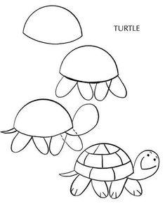 Como desenhar uma tartaruga learn art, learn to draw, how to draw hands,