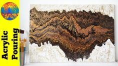 (83) Double dirty acrylic pour painting on a large canvas - Strata (DebyAtAcrylicPouring) - YouTube