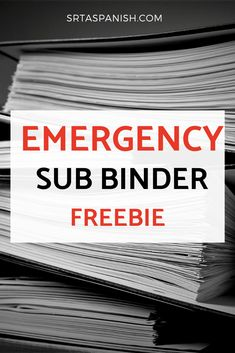 Are you looking for emergency sub plans? Check out this free sub binder to help you get organized with your sub plan and make sure all of your lesson plans and notes are in place before you take a sick day or a personal day! Spanish Lesson Plans, Art Lesson Plans, Sub Plans Template, Sub Binder, Emergency Sub Plans, Emergency Planning, High School Spanish, Secondary Teacher, Art Lessons Elementary