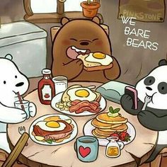 We Bare Bears Wallpapers, Panda Wallpapers, Cute Cartoon Wallpapers, Foto Cartoon, Bear Cartoon, Ice Bear We Bare Bears, We Bear, Wallpaper Fofos, Cute Kawaii Drawings