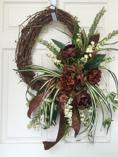 Everyday Brown and Beige Round Grapevine Wreath by WilliamsFloral