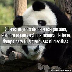 Si eres importante para esa persona siempre encontrará una manera de tener tiempo para ti; sin excusas ni mentiras