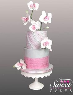 Pink Orchids cake by Sweet Creations Cakes
