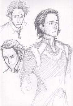 Loki (Tom Hiddleston) sketches