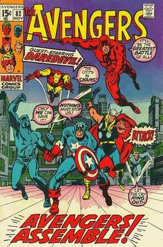 Wrong member of San Francisco's Code Red! In any case, DD's eyes are wide open (you know what I mean) as he joins the Avengers (just for this issue) to stop New York's Zodiac killer!