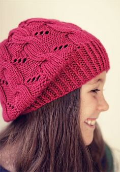 Hermione Hat. Worsted, FREE PATTERN. Need a size 5 (3.75 mm) 16' circular needle