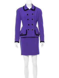Chanel Wool Two-Piece Skirt Suit